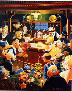 Oil painting | The Goose Egg Nugget | Scrooge McDuck | Goldie | Duck Tales | Carl Barks 1973 | £595.00