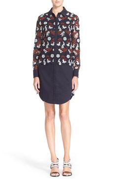 TORY BURCH Guipure Lace Stretch Cotton Shirtdress. #toryburch #cloth #