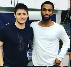 """9 Beğenme, 1 Yorum - Instagram'da Supernatural (@supernatural_bigfans): """"New pic of beautiful @jensenackles with new guest star in tonight episode 😍❤️ look at Jensen's hair…"""""""