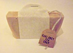 Earl Grey Tea Soap ...everyone's cup of tea! Great idea for Christmas present!