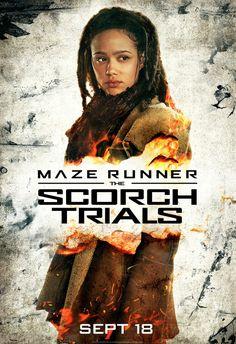 Nathalie Emmanuel - The Scorch Trials poster