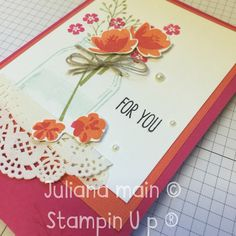 Stampin up Jar of love Stampin Up, Jar, Tableware, Dinnerware, Tablewares, Stamping Up, Dishes, Place Settings, Jars