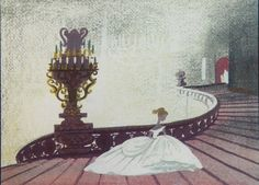 Cinderella concept art from Mary Blair