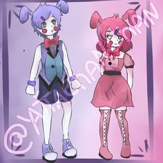 fnaf sister location - bon bon y bonnet by yaita-chan Fnaf 5, Anime Fnaf, Bon Bon Fnaf, Fnaf Sister Location, Fnaf Drawings, Freddy S, Five Nights At Freddy's, Bunnies, Sisters
