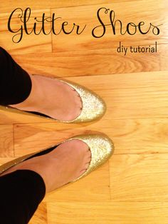 Create beautiful, sparkly shoes with this easy to follow DIY glitter shoes tutorial.