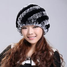 2017 Handmade Newest Women s Fashion Real Knitted Rex Rabbit Fur Hats Lady Winter  Warm Charm Beanies 48368982807