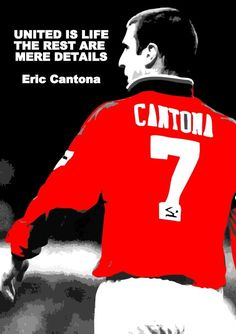 260gsm satin photo paper. Professional image processing. | eBay! One Love Manchester United, Manchester United Wallpaper, Manchester United Legends, Manchester United Football, Ronaldo Football, Football Players, Soccer Quotes, Sport Quotes, Eric Cantona