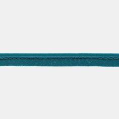 5 m Baumwollbiesenband 4mm Türkis - STOFF & STIL