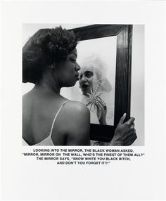 Carrie Mae Weems, Mirror, Mirror (From the Ain't Jokin' series), 1987
