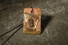Industrial Pendant Steampunk Jewelry Mixed Metal by JimRocksGA, $22.00