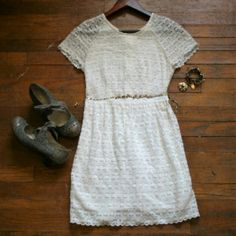 FREE PEOPLE white lace dress?? Very cute lace dress. It's in like new condition. Free People Dresses Mini