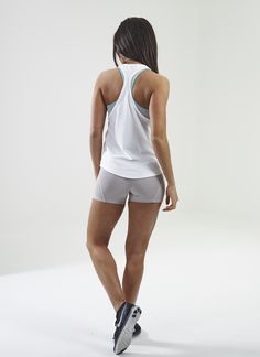 Gymshark Move Racerback Vest- White/ Mint Green. Order yours > https://www.gymshark.com/collections/t-shirts-tops/products/gymshark-move-racerback-vest-white-mint-green