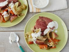 Slow Cooker Corned Beef and Cabbage recipe from Food Network Kitchen via Food Network