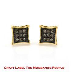 """1/5 Ct White Genuine Diamond 14K Gold Kite Shape Stud Earrings """"Mother\'s Day Gift"""". Starting at $71"""