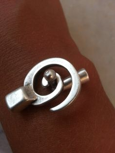 2 sets silver spiral bracelet clasp swirl by SilverparkSupplies, $2.95