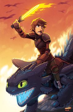 justinchan:  how to train your dragon 2! yay!available as a print soon