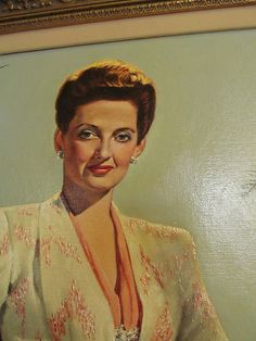Bette Davis Oil Painting by Anthony Defrange as Charlotte Vale Now Voyager 42'