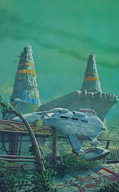 The City Crumbles by Bob Layzell from the book Futuropolis (1978)