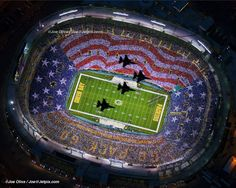 Picture of the jet flyover... LAMBEAU FIELD BABY!