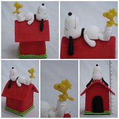 Lembrancinha e topo de bolo - Biscuit Making Of : Topo de Bolo Snoopy - Luana Carvalho