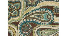 """Paisley in Blue, 5'0"""" x 7'0"""""""