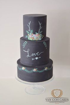 20 Amazing Wedding Cakes: Chalkboard Edition http://www.chalkii.com/20-amazing-wedding-cake-chalkboard/