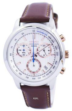 c8bfab75f31 Seiko Chronograph Quartz Tachymeter 100M SSB211 SSB211P1 SSB211P Men's Watch