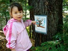 Storywalk Posts childrens book one page at a time along hiking trails bike paths and storefront windows