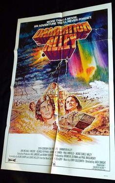 DAMNATION ALLEY 1977 Movie Poster 27x41 #MoviePoster #BMovie #SciFi