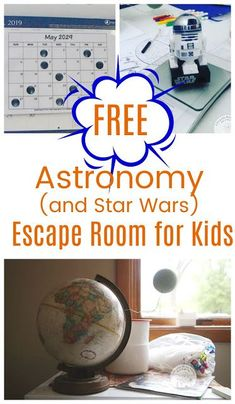 Free Astronomy themed escape room (with some Star Wars thrown in). Fun problem solving for kids! Escape Room Diy, Escape Room For Kids, Escape Room Puzzles, Escape Room Themes, Kids Room, Learning Activities, Activities For Kids, Toddler Learning, Early Learning