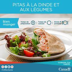En manque d'idées pour le dîner? Mettez des restes de dinde dans un pain pita! Trouvez cette recette et bien d'autres ici : http://www.canadiensensante.gc.ca/eating-nutrition/healthy-eating-saine-alimentation/tips-conseils/recipes-recettes/turkey-veggie-pita-dinde-legumes-fra.php?_ga=1.124458440.317305745.1420749417&utm_source=pinterest_hcdns&utm_medium=social_fr&utm_content=apr7_turkey&utm_campaign=social_media_15