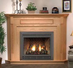 Wood Mantel And Surround For Corner Gas Fireplace Mantels