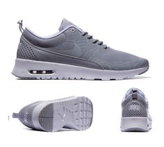 Nike Womens Air Max Thea Print Trainers Wolf Grey Metallic Silver S92408