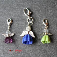 Herzschlüssel: Zum Valentinstag ...., Engel, Elfen, lampwork, glass beads, Glasperlen, #DIY