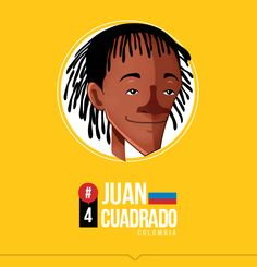 James gets the plaudits - Cuadrado does the work.  MI SELECCIÓN COLOMBIA by Edgar Rozo, via Behance