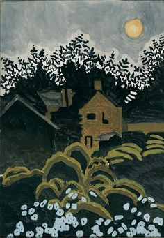 Charles Burchfield (American, 1893-1967), Twilight Moon, 1916. Oil on canvas, 20 x 14 in. Columbus Museum of Art, Ohio.