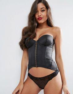 402d870344 ASOS Celeste Satin Pleated Corset  corset Women Lingerie