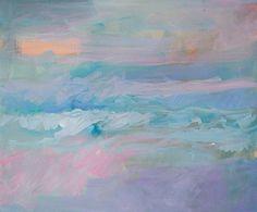 Foggy Morning Beach Break by Ellen Levine Dodd