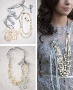 #DIY pearl necklace