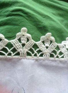 Easiest Crochet Frills Border Ever! Filet Crochet, Beau Crochet, Crochet Chart, Love Crochet, Beautiful Crochet, Crochet Stitches, Crochet Boarders, Crochet Lace Edging, Crochet Trim