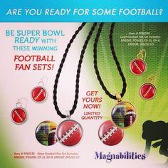 www.christineschwab.magnabilities.com Football inserts!! For your Magnabilities pendants!! #football #magnabilities