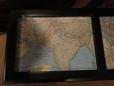 Coffee Table Makeover with Antique Maps