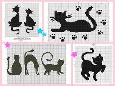 Cross Stitch Patterns, Knitting Patterns, Kawaii Drawings, Cat Pattern, Yarn Projects, Knitted Gloves, Stuffed Animal Patterns, Cross Stitching, Needlepoint