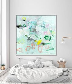 Abstract painting PRINT canvas art large wall #art #painting @EtsyMktgTool #abstractpainting #print #canvasart #canvas #painting