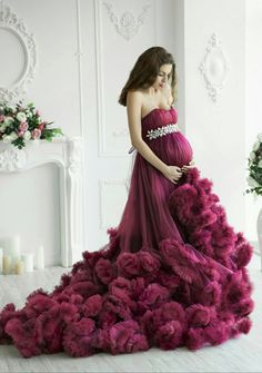Maternity ruffled tulle dress photoshoot Maternity gown Pregnancy purple cloud dress Tutu princess dress Maternity ball gown Photo session by LilyLandUA on Etsy https://www.etsy.com/dk-en/listing/504274979/maternity-ruffled-tulle-dress-photoshoot