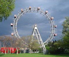 "The Wiener Riesenrad (German for ""Viennese Giant Wheel"") is a surviving example of nineteenth century Ferris wheels. Erected in 1897"