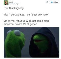 Inner Kermit on Thanksgiving