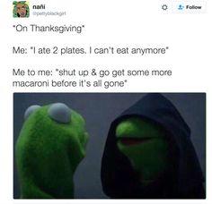 Evil Kermit on Thanksgiving