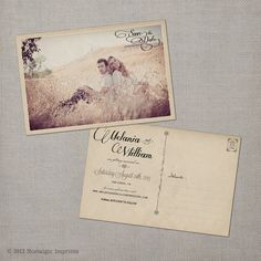 Vintage Save the Date Postcard  the Melania by NostalgicImprints, $38.00