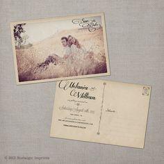 Vintage Save the Date Postcard the Melania by NostalgicImprints